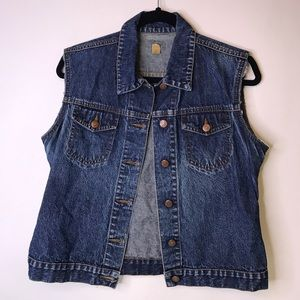 Caslon Denim Jean Vest, Small